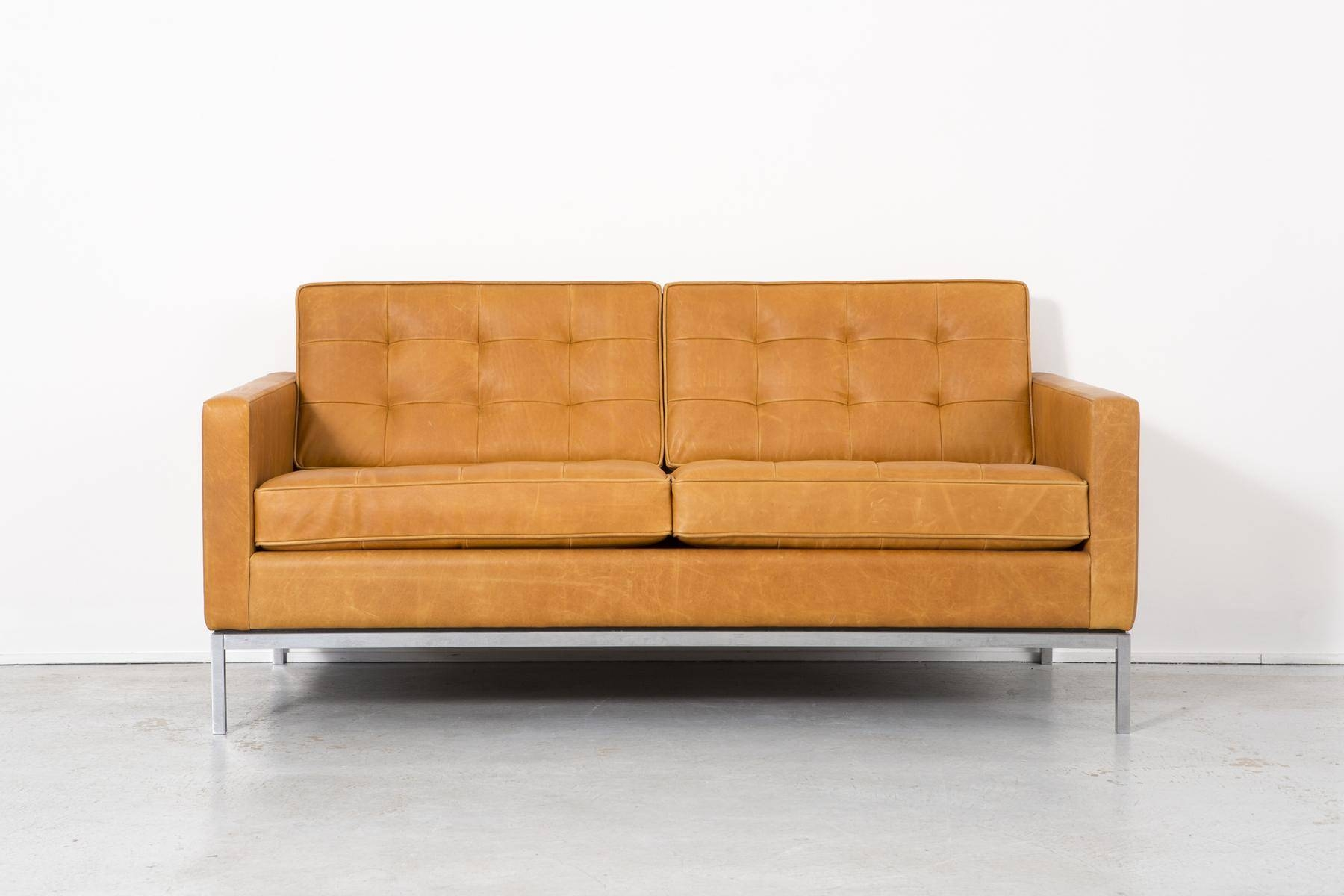 Leather Sofaflorence Knoll Bassett For Knoll, 1970S For Sale inside Florence Sofas (Image 26 of 30)