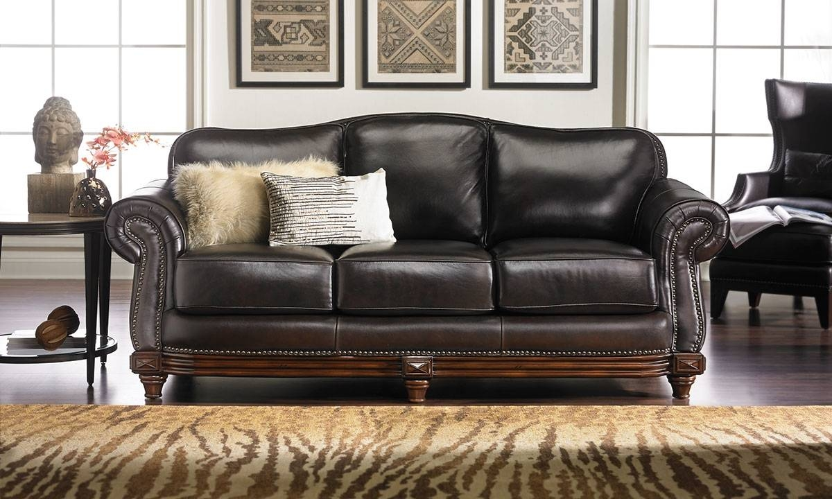 Leather Sofas | Haynes Furniture, Virginia's Furniture Store within Leather Sofas (Image 21 of 30)