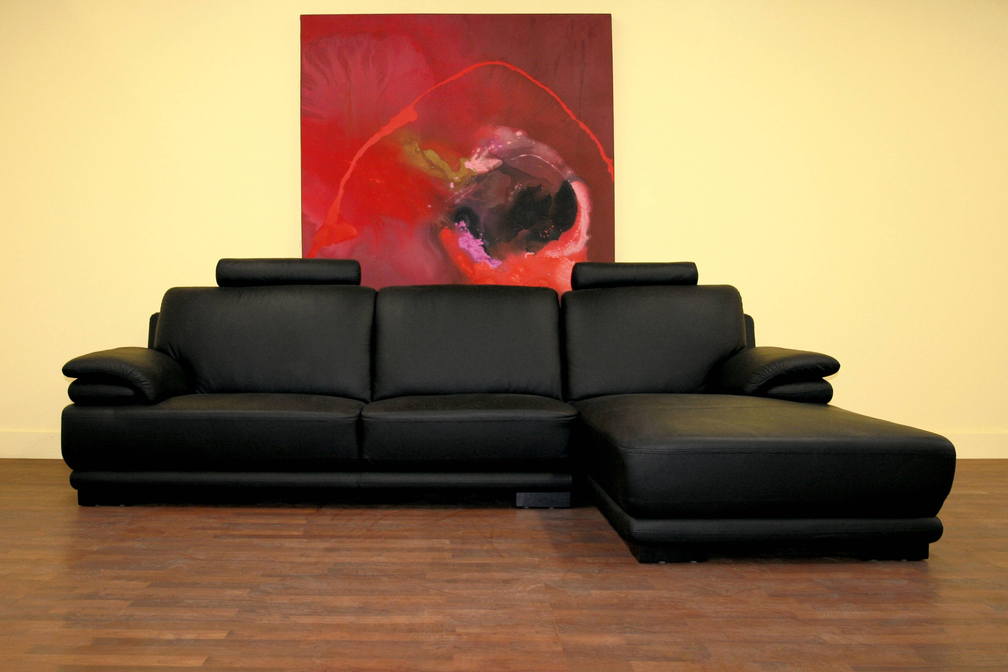 Black Leather Sofa With Chaise Best 25 L Shaped Leather Sofa Ideas