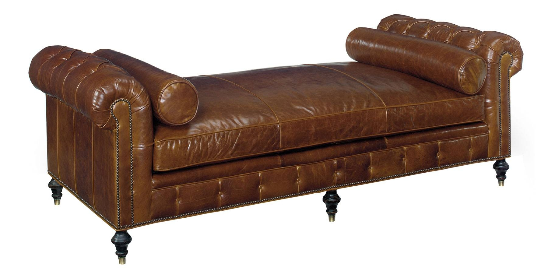 Leather Tufted Chesterfield Daybed With Bench Seat | Club Furniture inside Leather Bench Sofas (Image 16 of 30)
