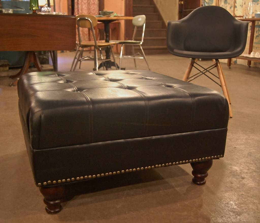 Leather Tufted Ottoman Coffee Table – Michaelpinto throughout Brown Leather Ottoman Coffee Tables (Image 24 of 30)