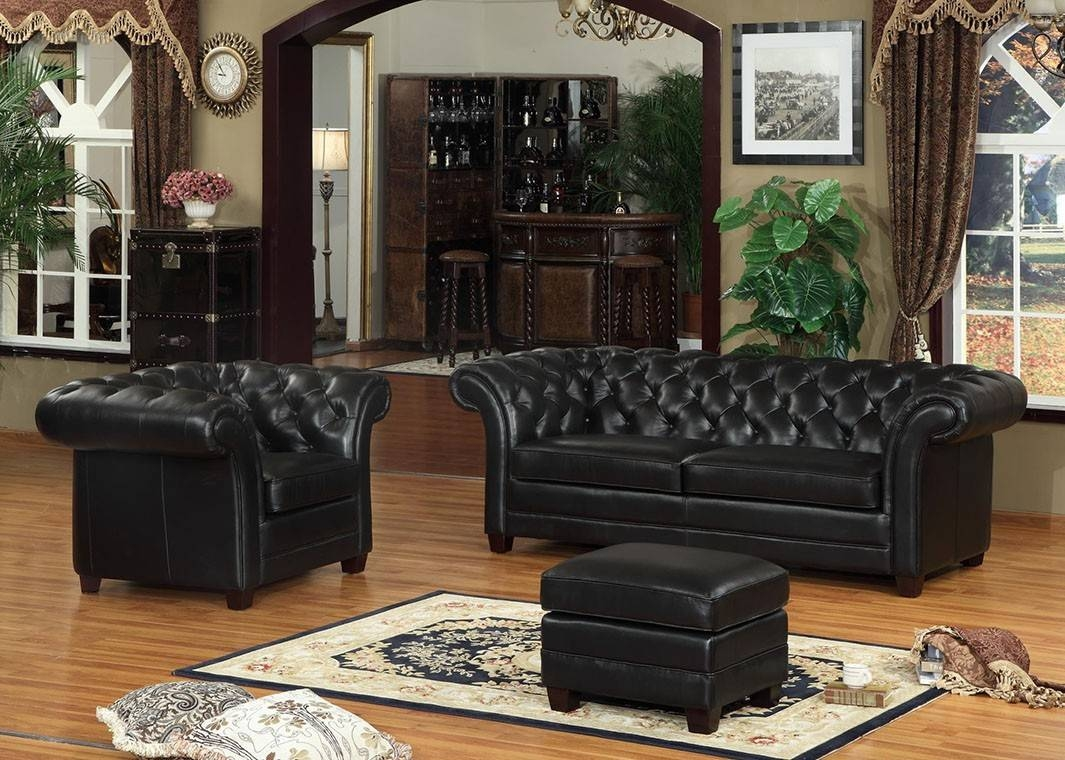 Leather Victoria Collection Split Sofa with regard to Victorian Leather Sofas (Image 10 of 30)