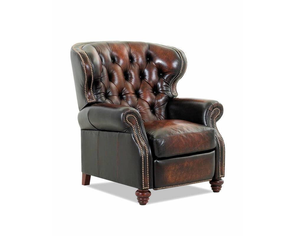 Leather Wingback Recliner | Roselawnlutheran in Chesterfield Recliners (Image 17 of 30)
