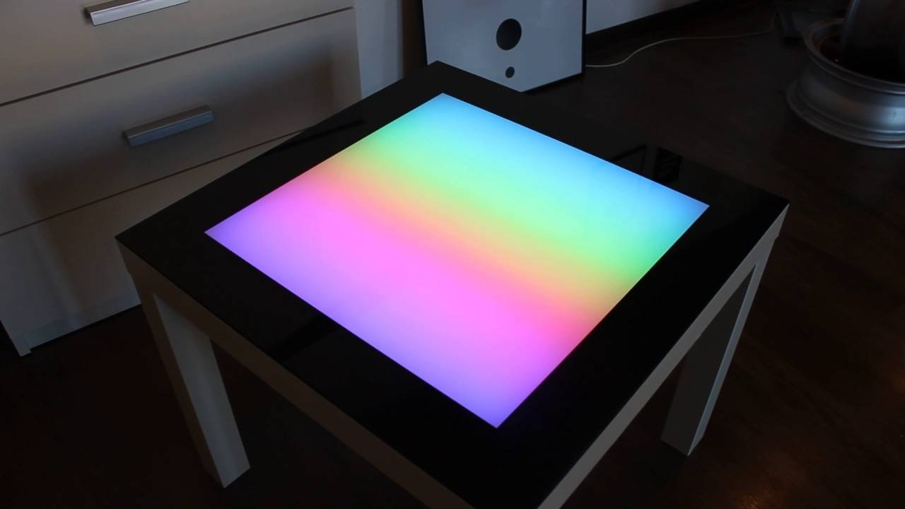 Led Coffee Table Arduino Led Table Colored Glass Table Backlight intended for Led Coffee Tables (Image 13 of 30)