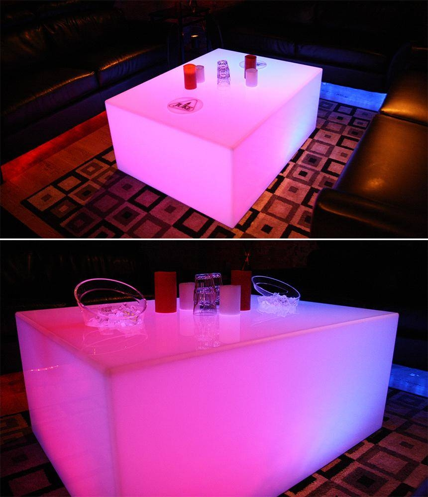 Led Coffee Tables | Nightclub & Bar Lounge Furniture | Light Up Tables throughout Led Coffee Tables (Image 17 of 30)
