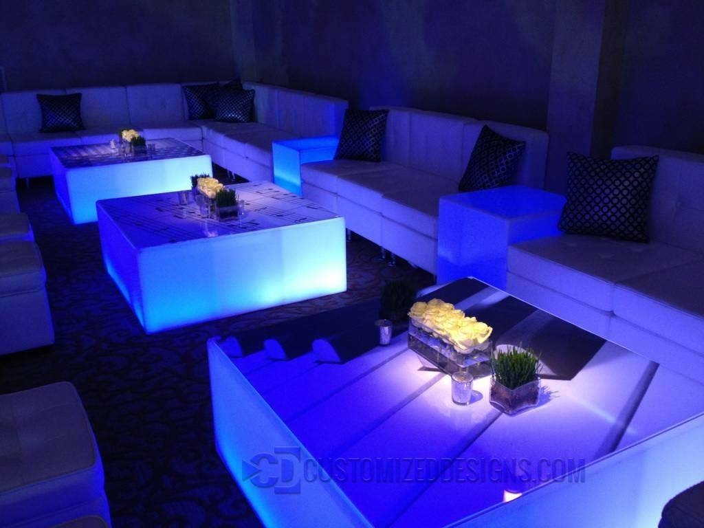 Led Lighted Coffee Table For Nightclubs, Lounges Or Home Bars within Led Coffee Tables (Image 18 of 30)