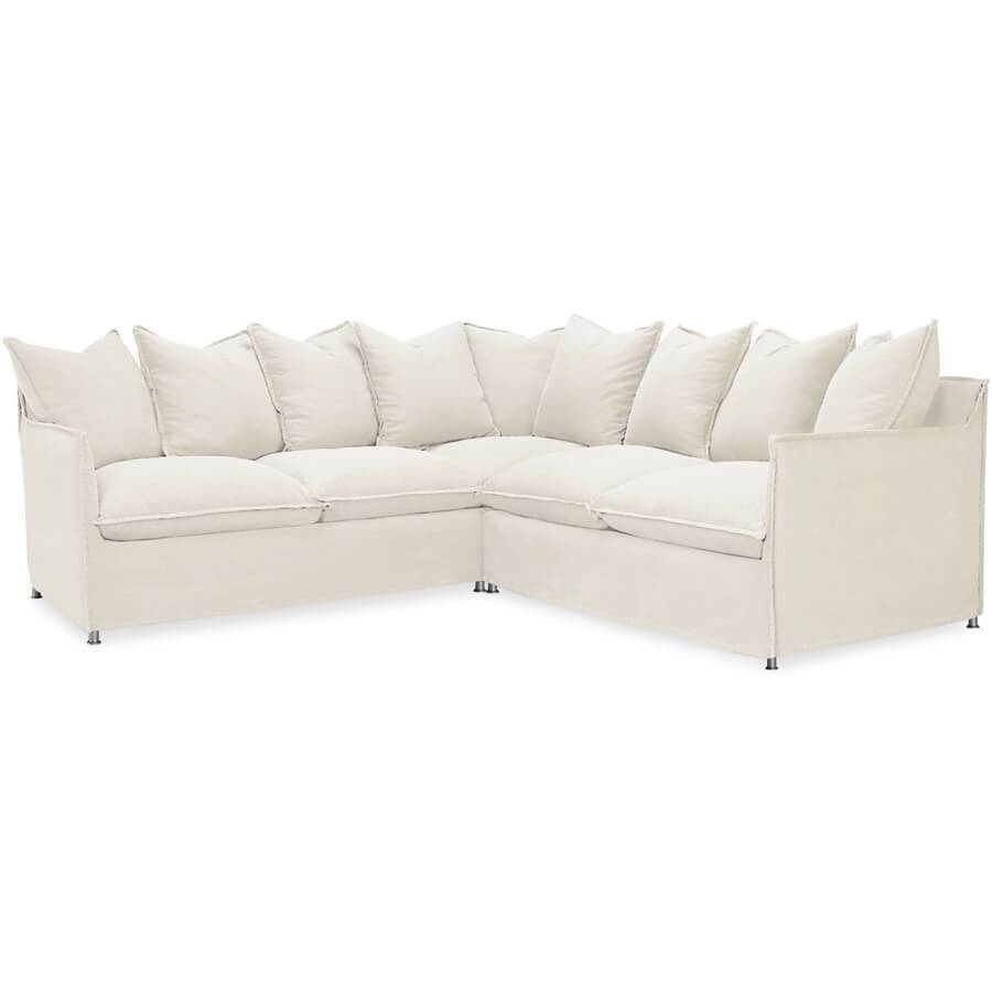 Lee Agave Sectional: Outdoor Slipcovered Modular Outdoor Furniture throughout Lee Industries Sectional Sofa (Image 11 of 25)