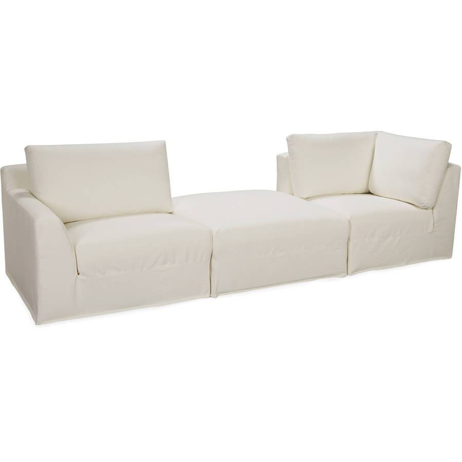 Lee Bermuda 3-Pc Sectional: Square Modular Outdoor Slipcovered in Lee Industries Sectional Sofa (Image 13 of 25)