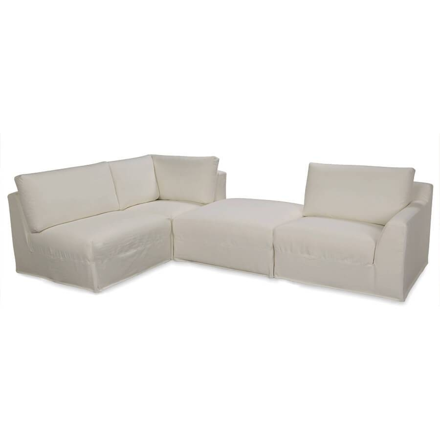 Lee Bermuda 4-Pc Sectional: Indoor Looking Patio Furniture With within Lee Industries Sectional Sofa (Image 14 of 25)