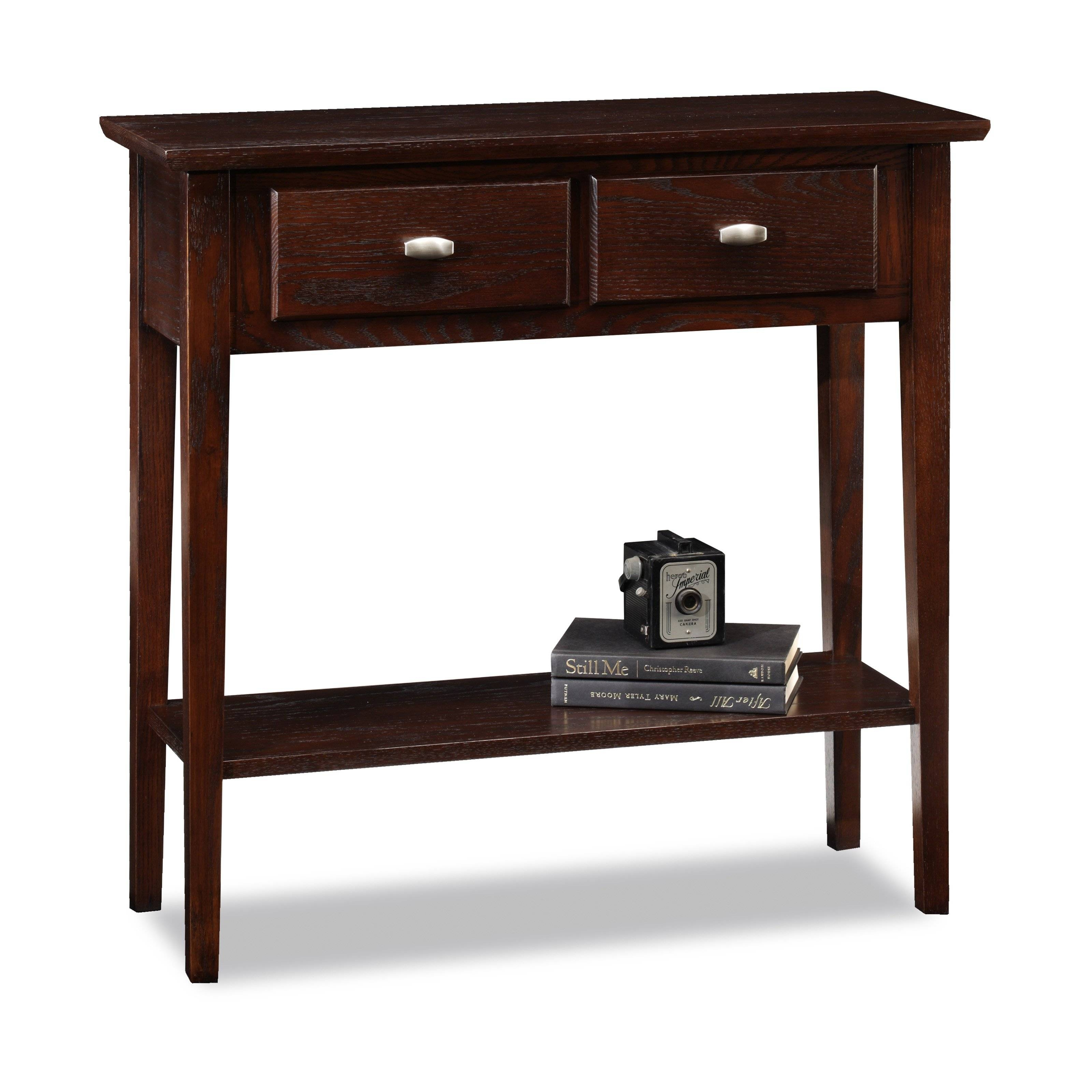 Leick Hall Console / Sofa Table - Chocolate Cherry | Hayneedle for Sofa Table Drawers (Image 13 of 30)