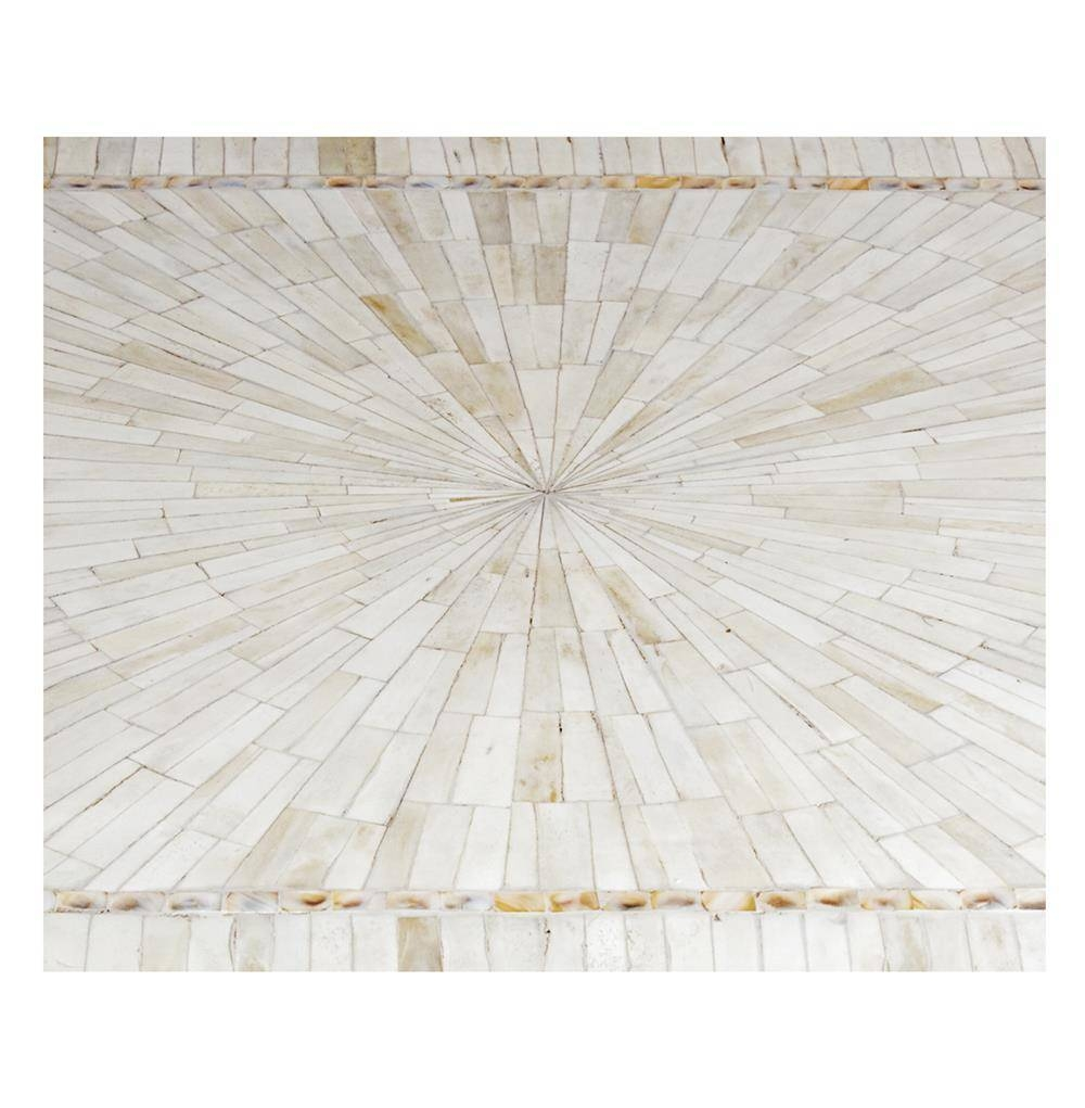 Leila Mother Of Pearl And Bone Inlay Coffee Table | Kathy Kuo Home for Mother Of Pearl Coffee Tables (Image 10 of 30)