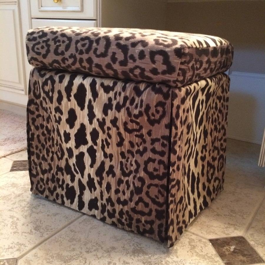 Leopard Ottoman Coffee Table : Exotic Leopard Ottoman In Perfect inside Leopard Ottoman Coffee Tables (Image 17 of 30)