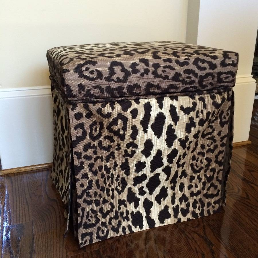 Leopard Ottoman Coffee Table : Exotic Leopard Ottoman In Perfect with regard to Leopard Ottoman Coffee Tables (Image 18 of 30)