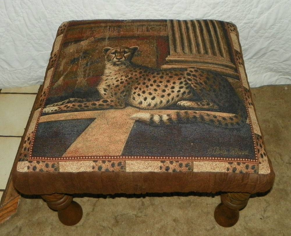 Leopard Print Ottoman Coffee Table - Couches Furniture Gallery within Leopard Ottoman Coffee Tables (Image 20 of 30)