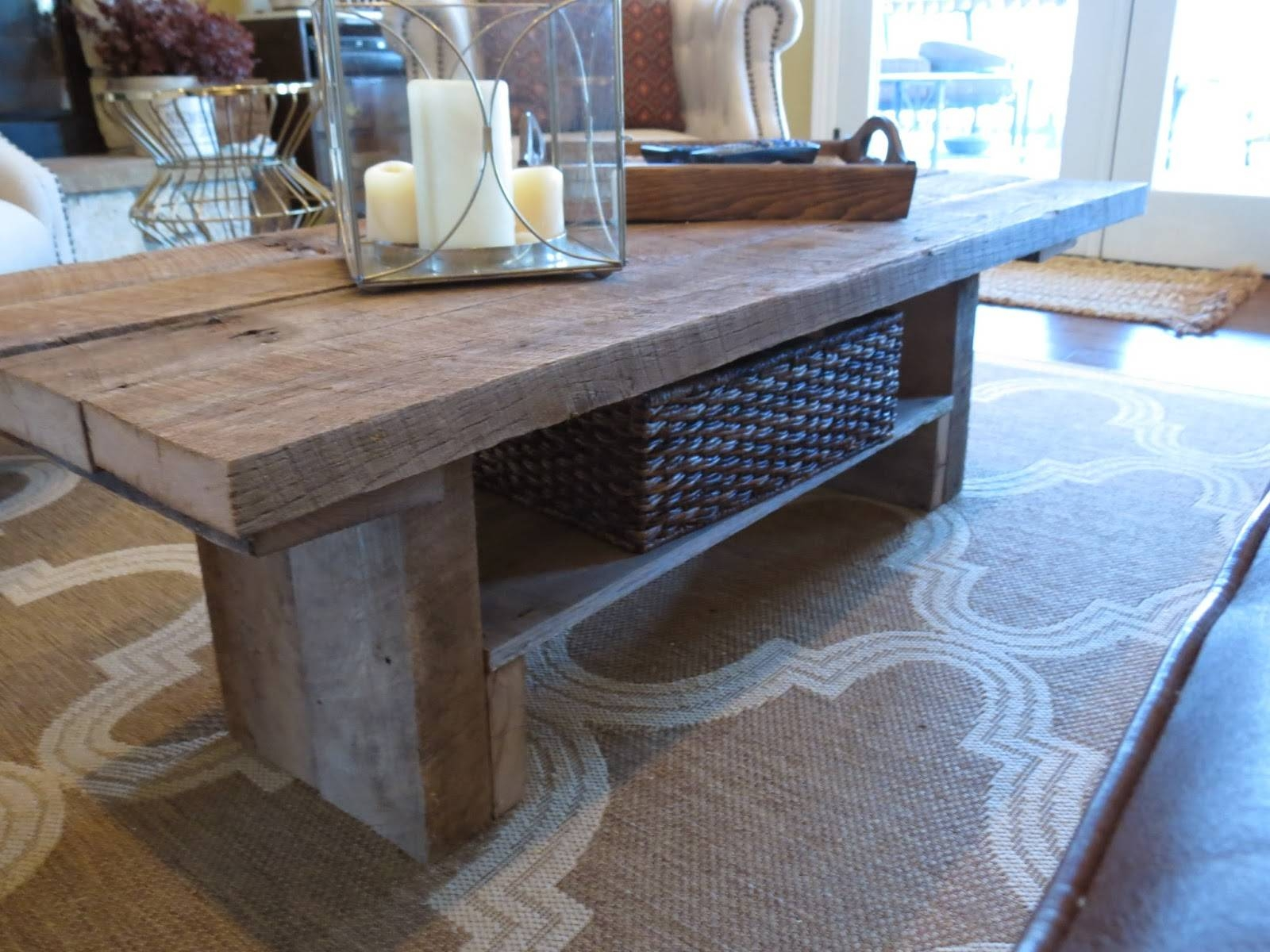 Let's Just Build A House!: Tale Of 2 Tables: A Golden Deal & A Diy pertaining to Rustic Barnwood Coffee Tables (Image 18 of 30)