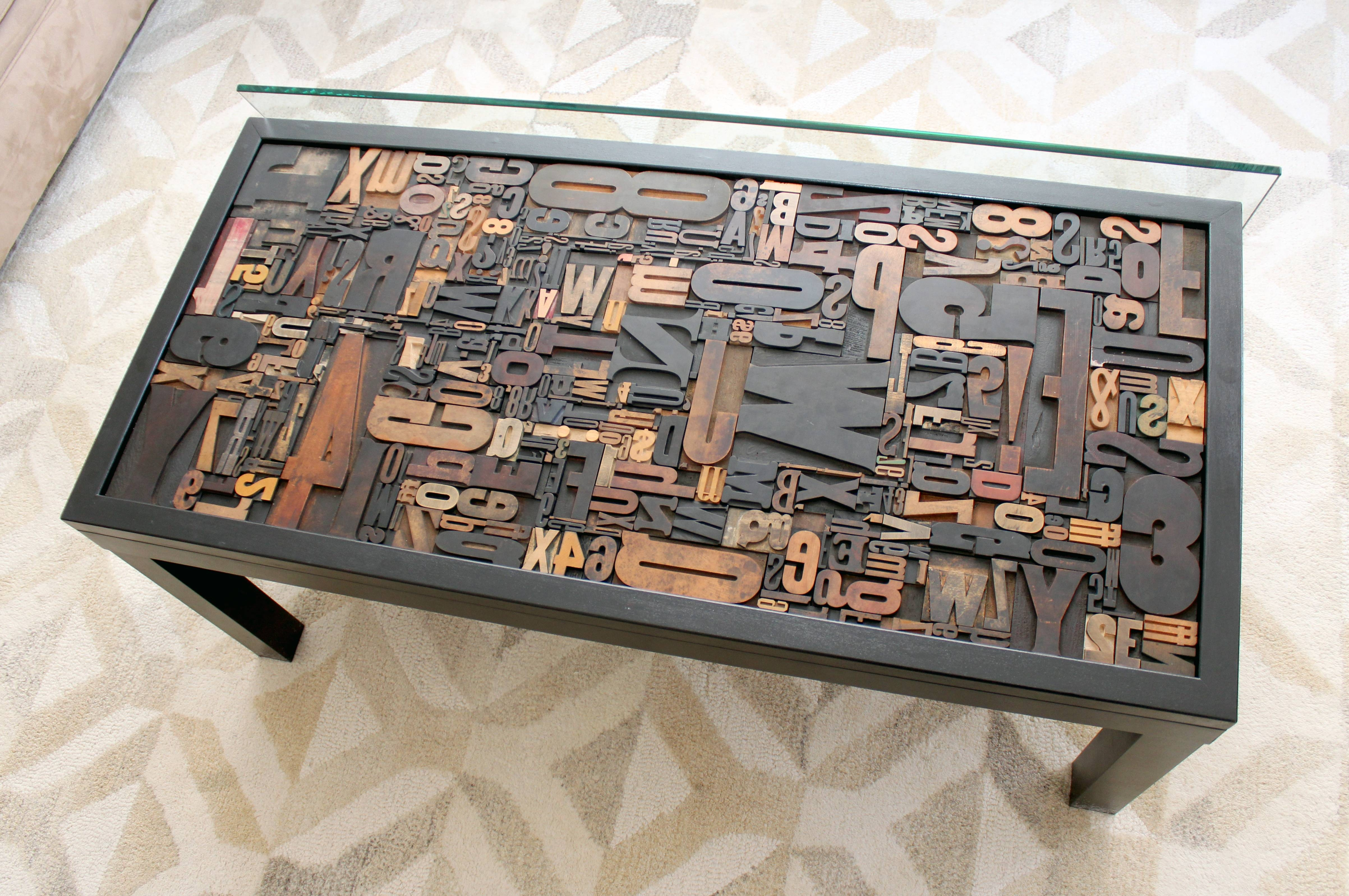 Letterpress Coffee Table | Ruggy Diy with regard to Puzzle Coffee Tables (Image 22 of 30)