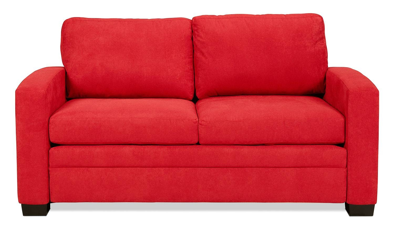 Levin Signature Full Sleeper Sofa - Chili Red | Levin Furniture within Red Sleeper Sofa (Image 12 of 30)