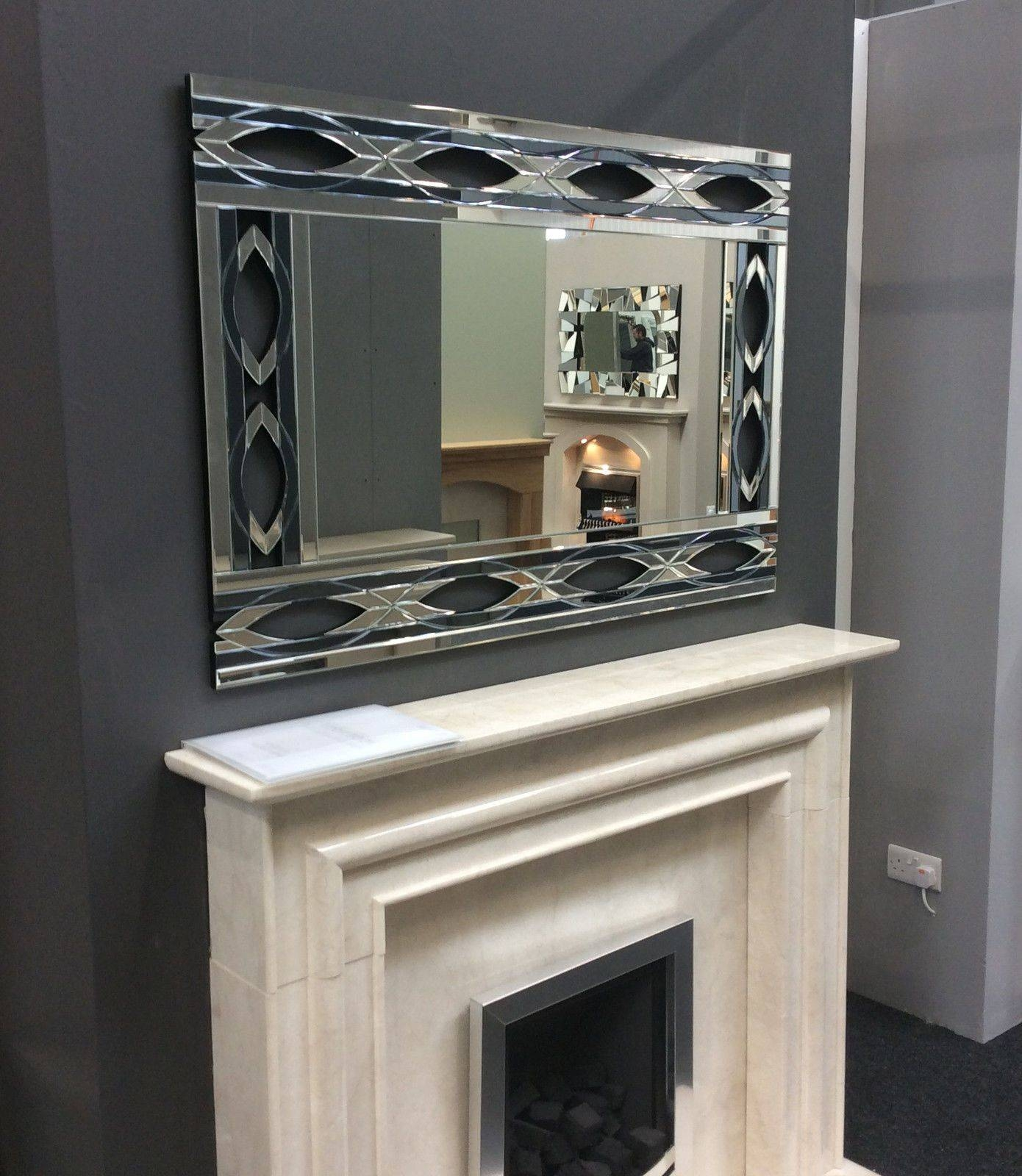Lg Stunning Contemporary Art Deco Inspired Venetian Mirror - New in Art Deco Venetian Mirrors (Image 19 of 25)