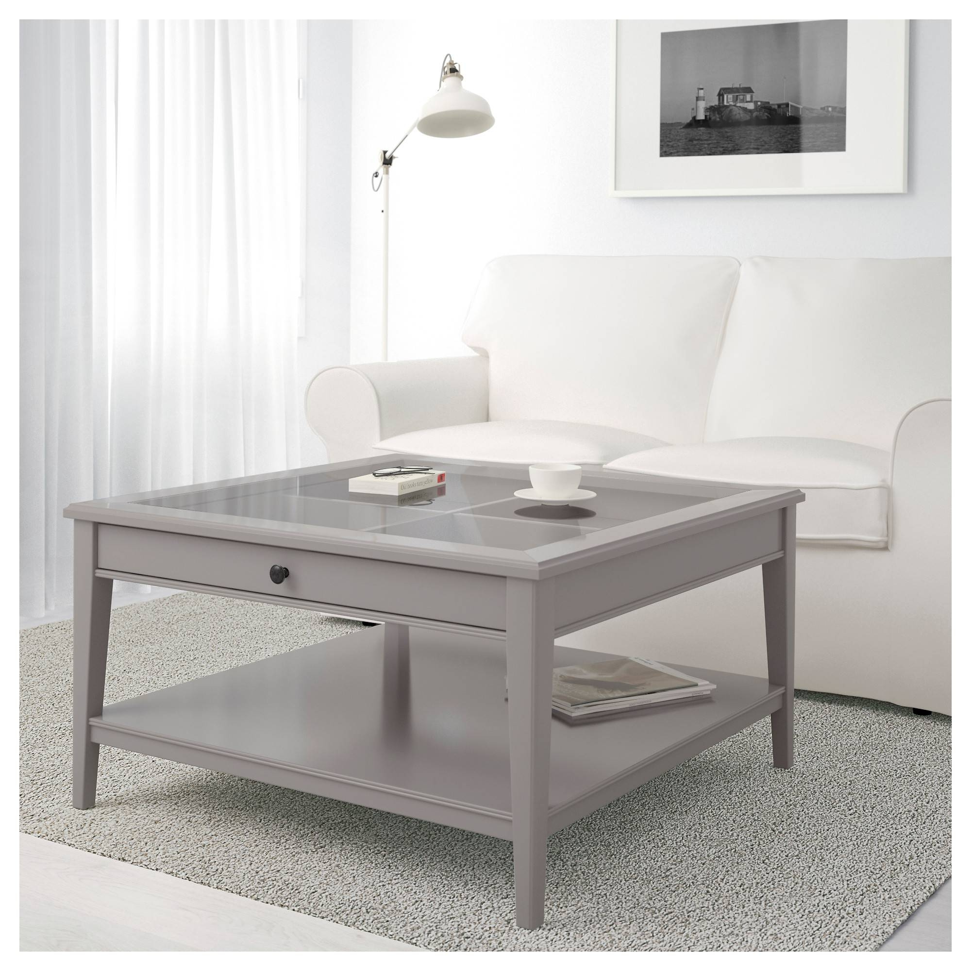 Liatorp Coffee Table - Gray/glass - Ikea inside Grey Coffee Tables (Image 23 of 30)