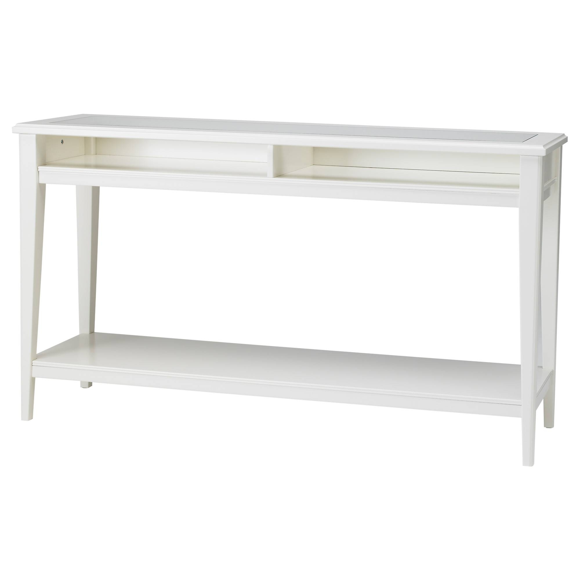 Liatorp Console Table White/glass 133X37 Cm - Ikea inside White Glass Sideboards (Image 14 of 30)