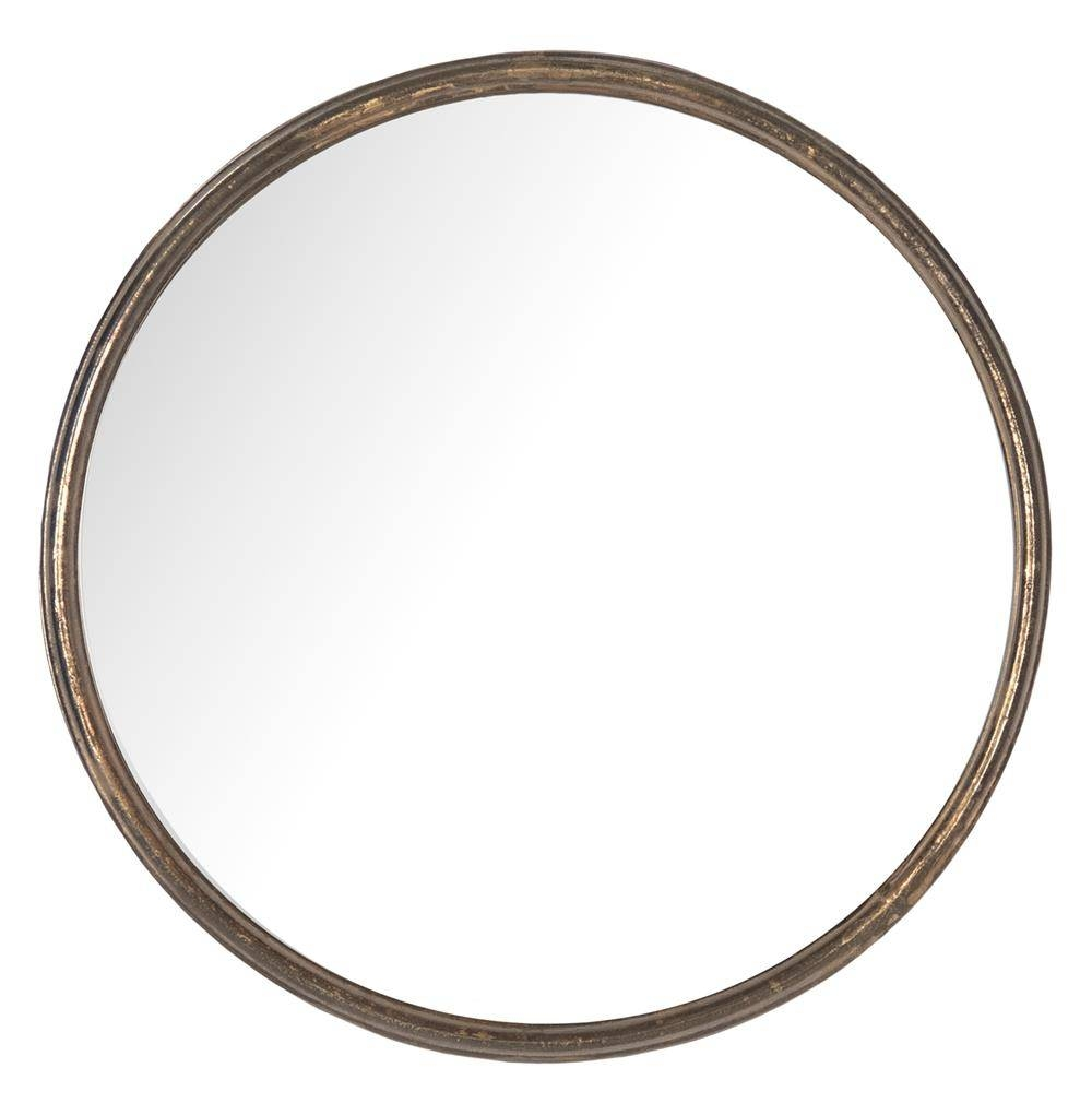 Libby Hollywood Regency Thin Frame Antique Bronze Round Mirror regarding Antique Round Mirrors (Image 16 of 25)