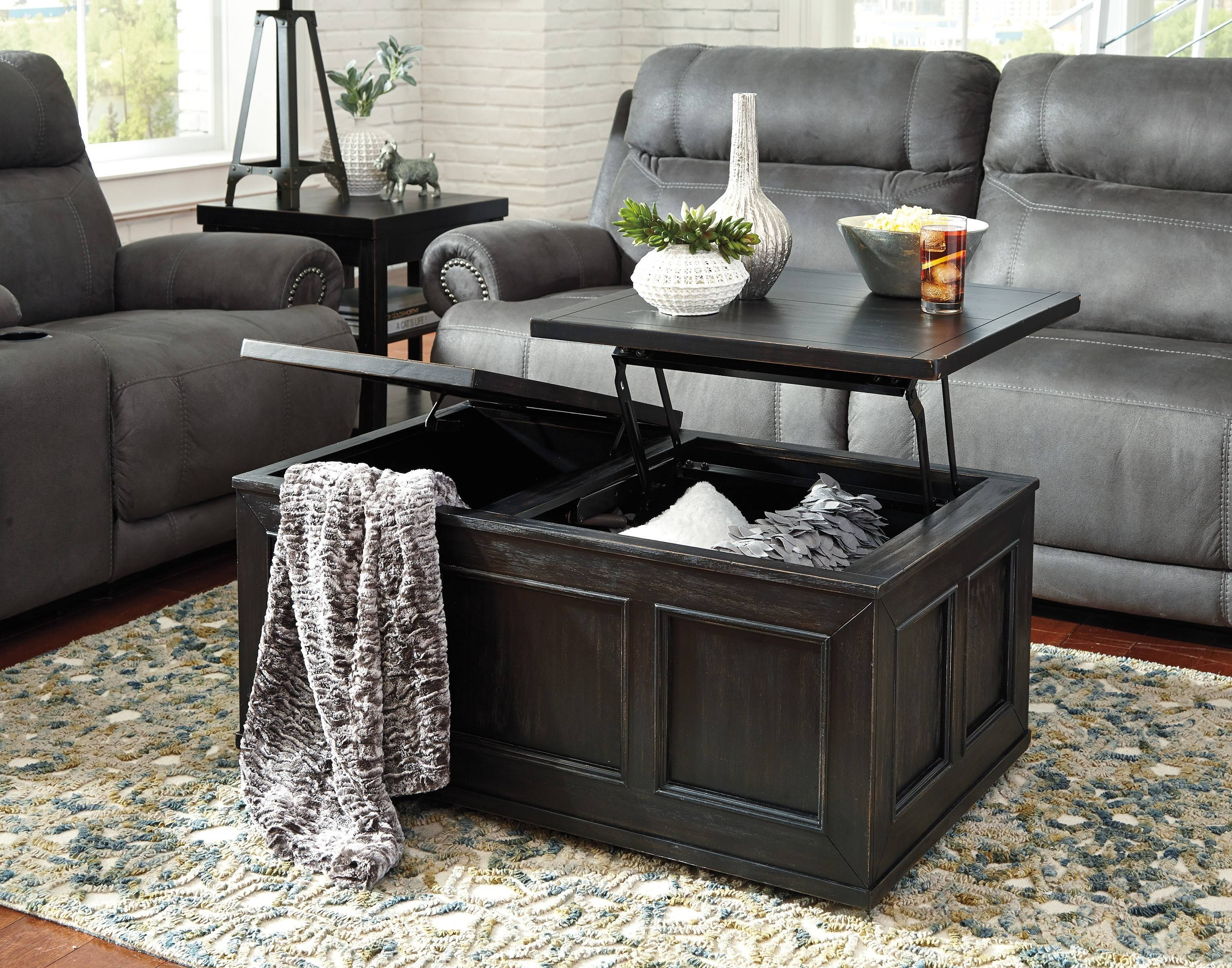 Lift Top Coffee Table Ashley Furniture | Coffee with regard to Logan Lift Top Coffee Tables (Image 19 of 30)