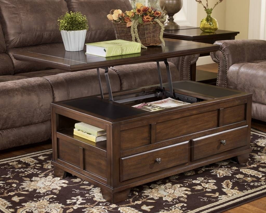 Lift Up Coffee Table Top Tables With Storage / Thippo regarding Coffee Tables With Storage (Image 25 of 30)