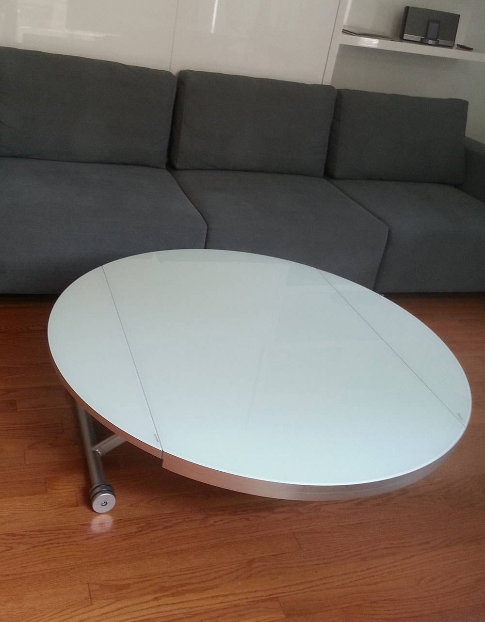 Lifting Round Coffee-Dining Table | Expand Furniture pertaining to Low Glass Coffee Tables (Image 13 of 30)