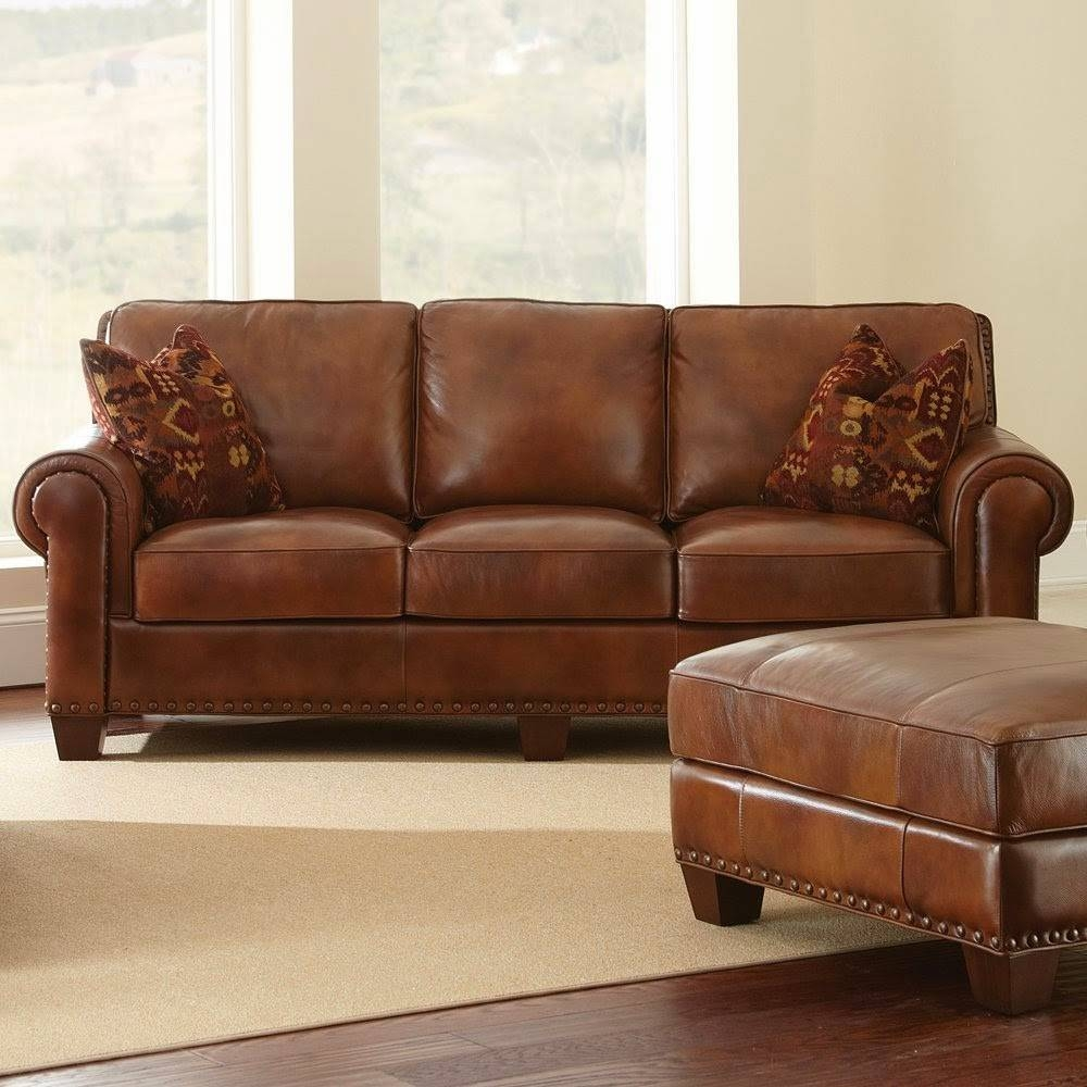 Light Brown Sofa with regard to Light Tan Leather Sofas (Image 17 of 30)