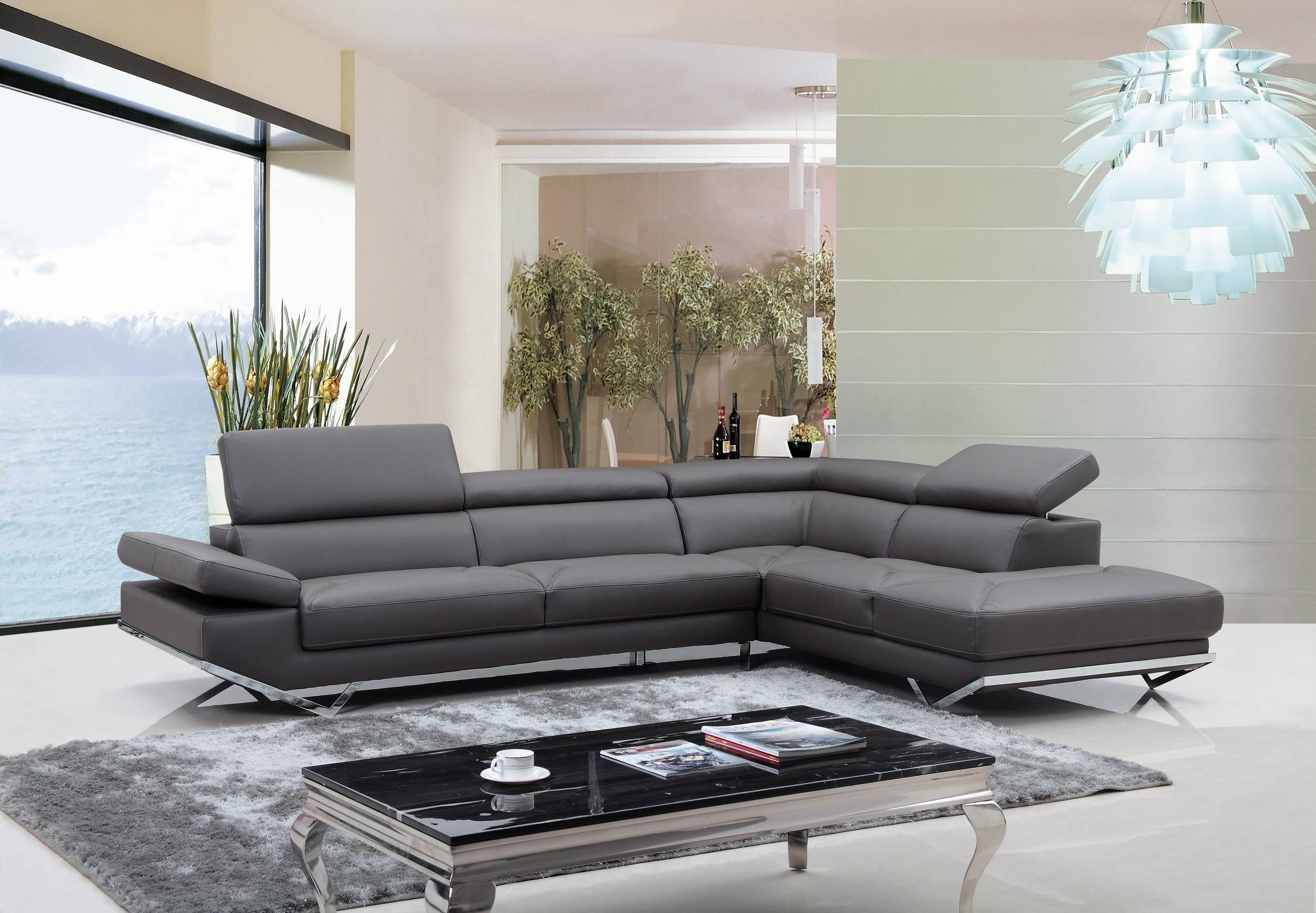 Light Grey Leather Sectional Sofa | Tehranmix Decoration with regard to Gray Leather Sectional Sofas (Image 22 of 30)