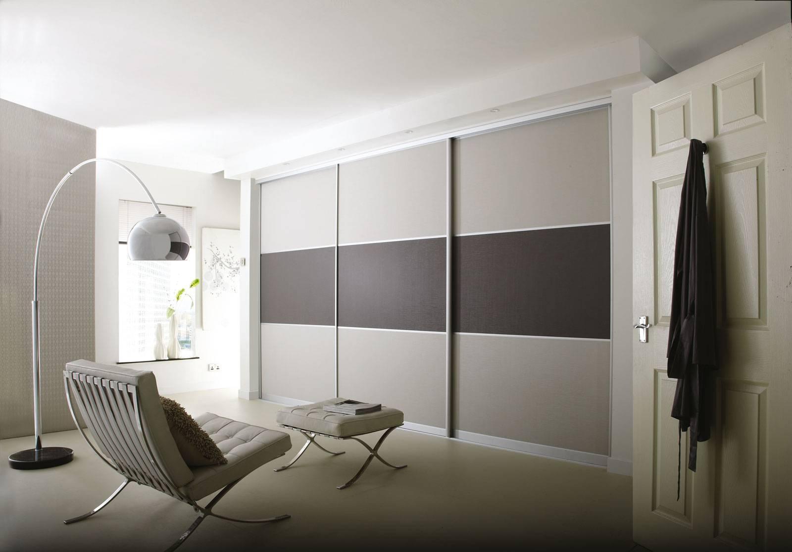 Light Grey Suede Dark Grey Suede - Sliding Wardrobes within Dark Wardrobes (Image 16 of 30)