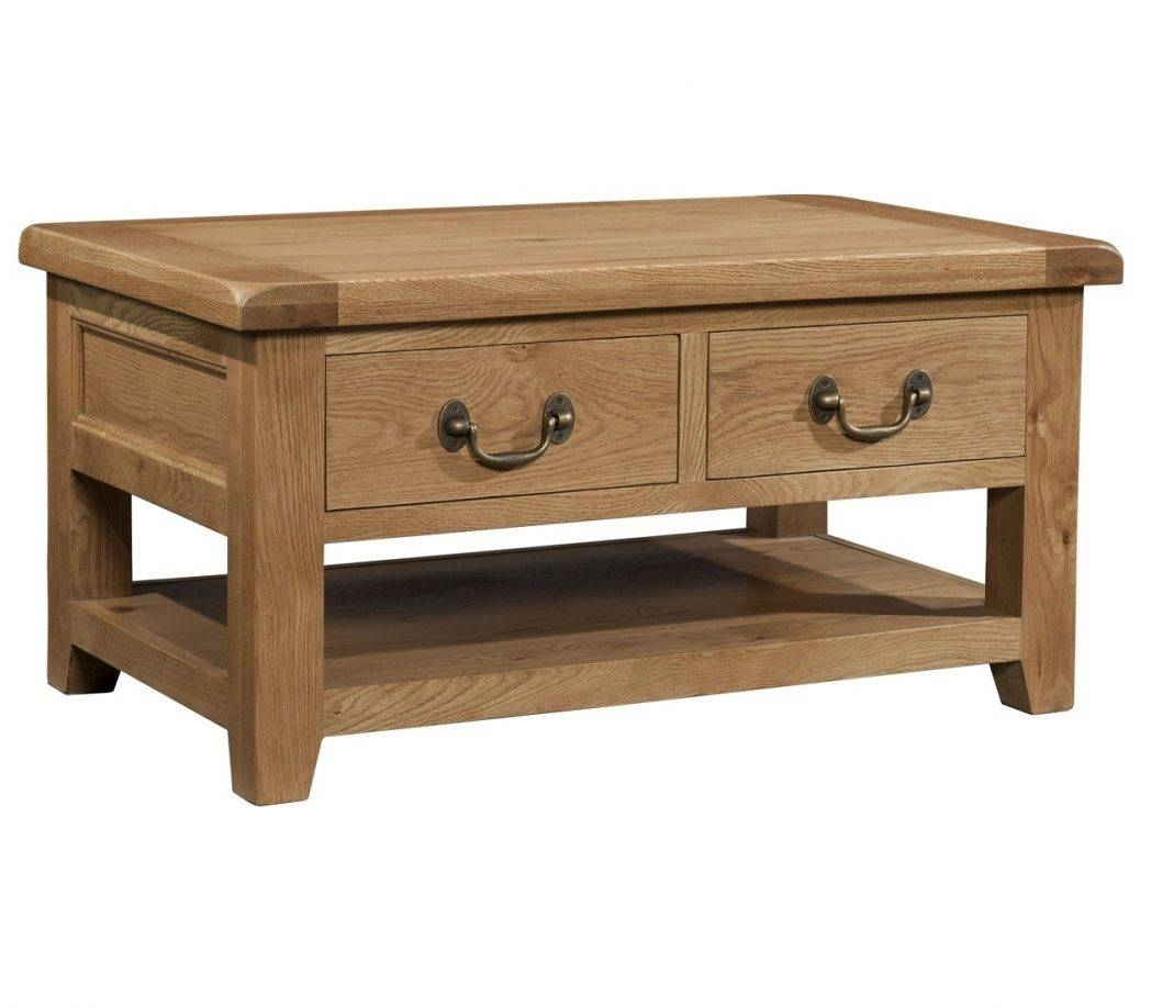 Light Oak Coffee Table With Drawers / Coffee Tables / Thippo regarding Light Oak Coffee Tables With Drawers (Image 22 of 30)