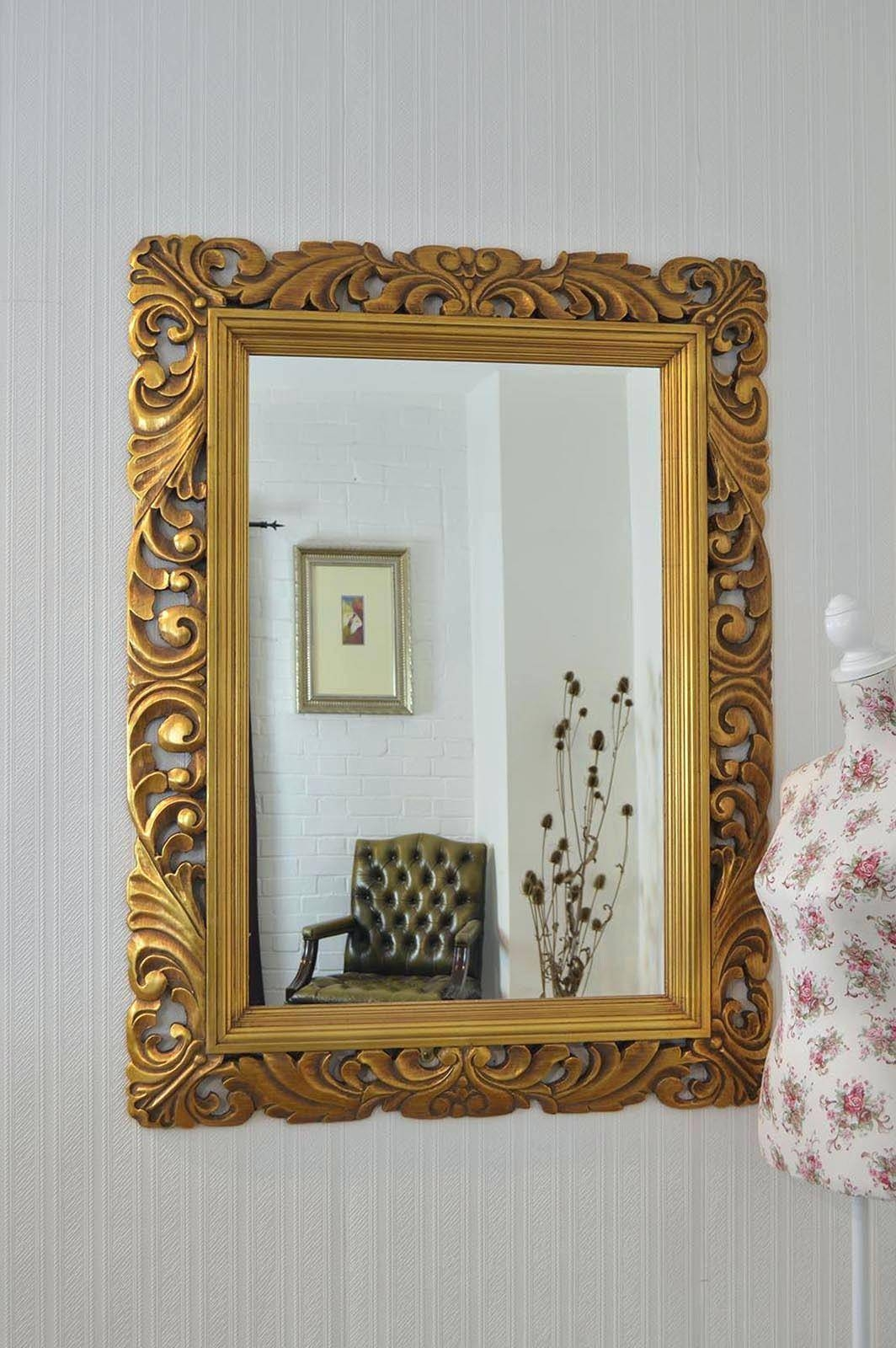 Lightbox Moreviewlarge Antique Gold Wall Mirror Large Framed Pertaining To Large Antique Gold Mirrors (View 22 of 25)