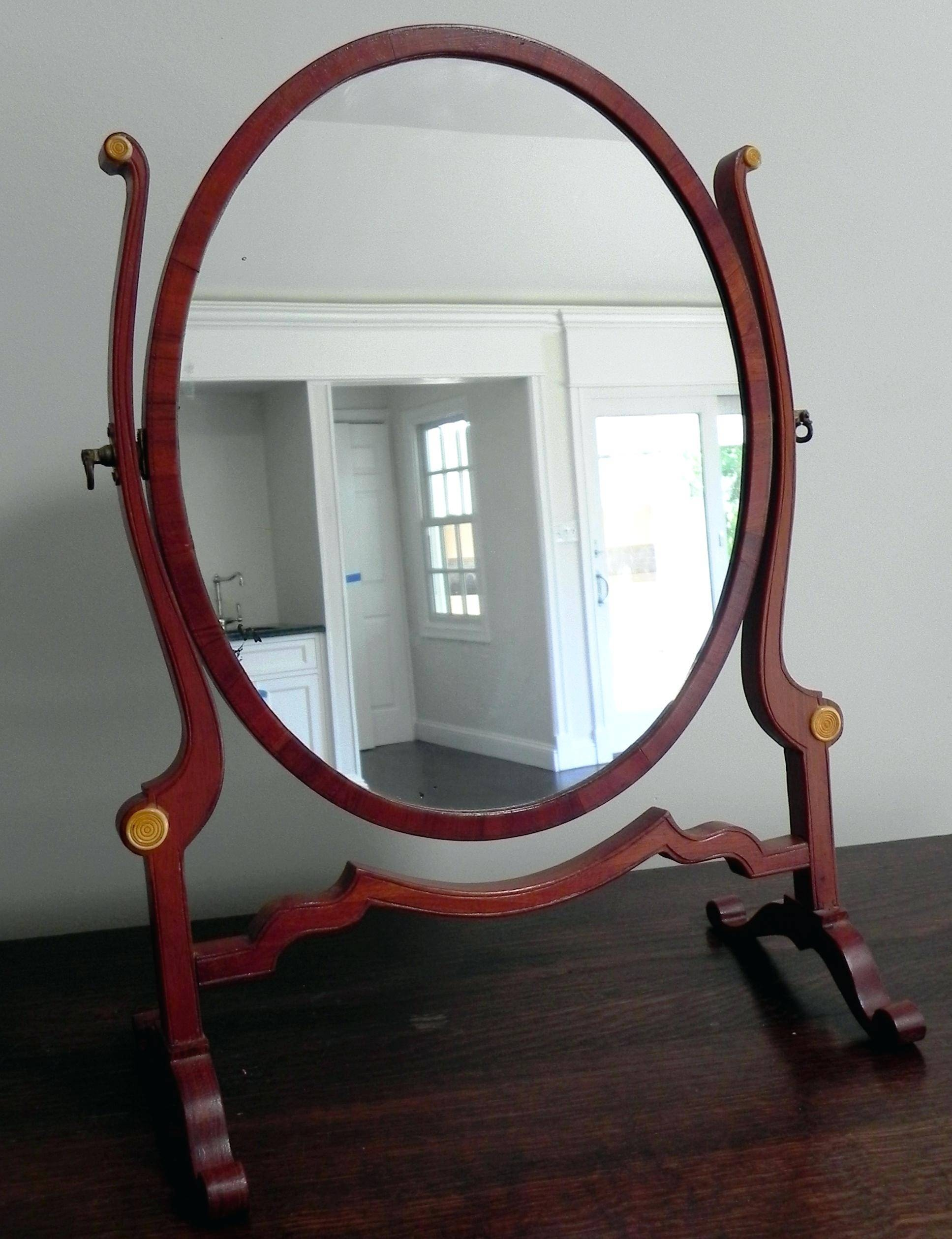Lila Range White Dressing Table And Mirrorantique Oval Mirror regarding Free Standing Dressing Mirrors (Image 17 of 25)