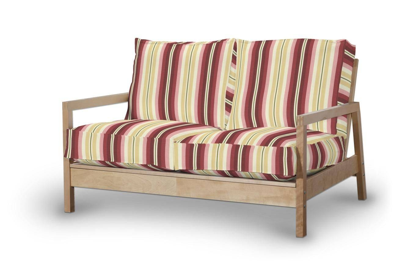 Lillberg 2-Seater Sofa Cover, Red, Burgundy And Beige Stripes throughout Lillberg Sofa Covers (Image 16 of 30)