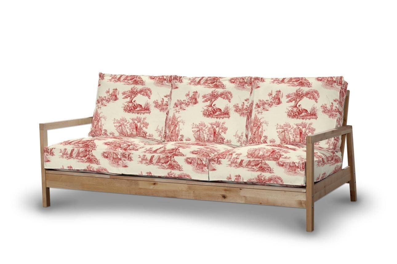 Lillberg 3-Seater Sofa Cover, Red Characters, Ivory Background with Lillberg Sofa Covers (Image 18 of 30)