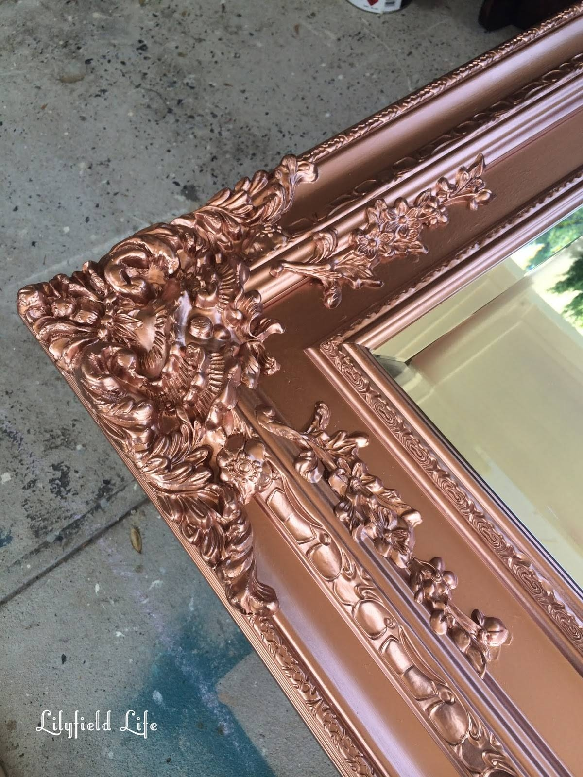 Lilyfield Life: Antique Rose Gold Mirror (From Aged Cream) intended for Antique Cream Mirrors (Image 17 of 25)