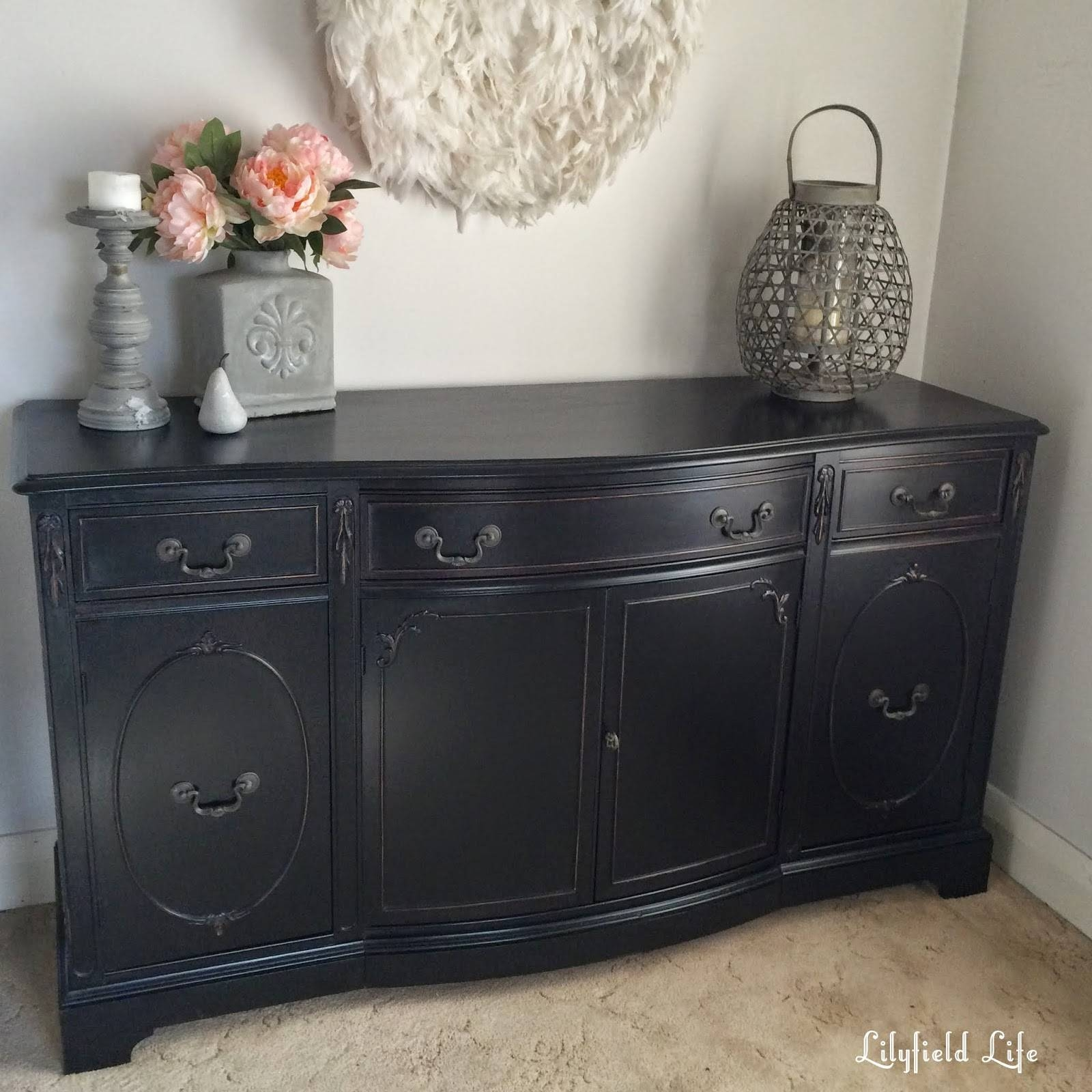 Lilyfield Life: How To Paint Furniture Black Like A Boss within White Distressed Finish Sideboards (Image 27 of 30)