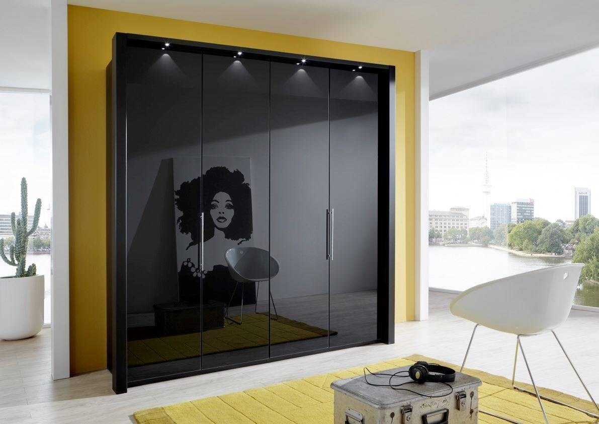 Linea Design. Wiemann Loft 5 Door 250Cm Wardrobe Magnolia Glass with 5 Door Wardrobes Bedroom Furniture (Image 13 of 15)