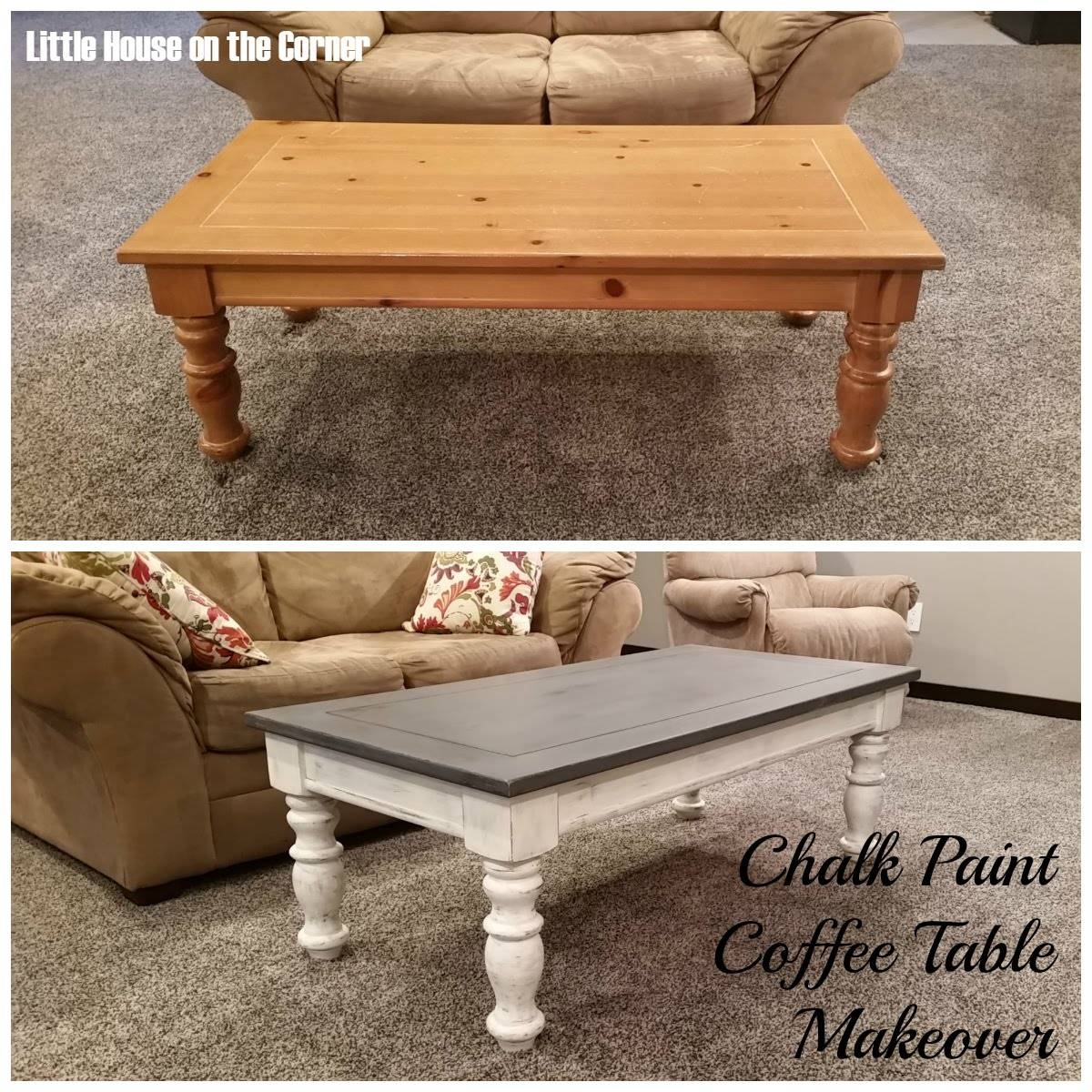 Little House On The Corner: Chalk Paint Coffee Table Makeover regarding Corner Coffee Tables (Image 22 of 30)