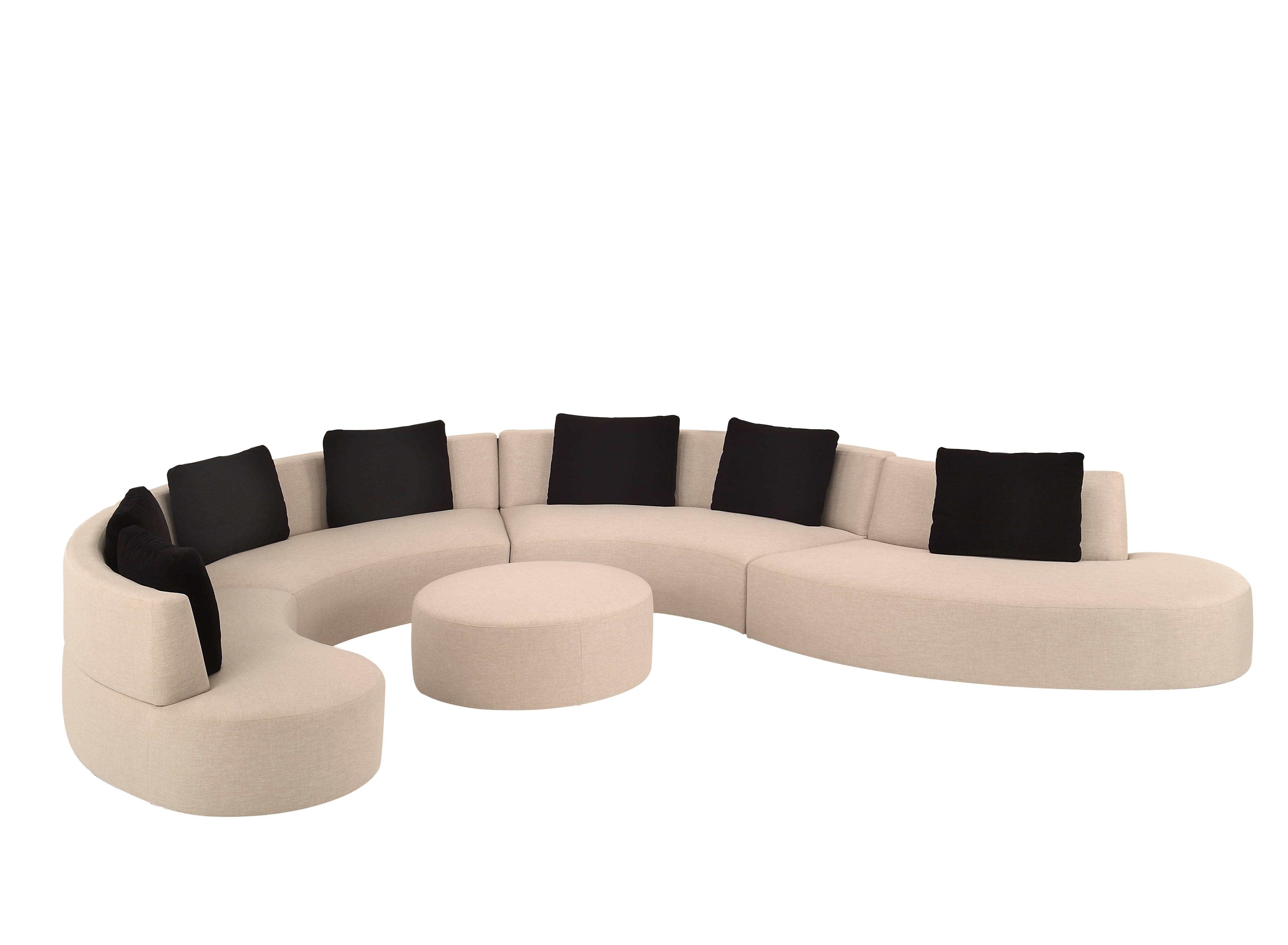 Living Room: Amazing Winsome Curved Sectional For Beautiful Living inside Modern Sofas Sectionals (Image 14 of 30)