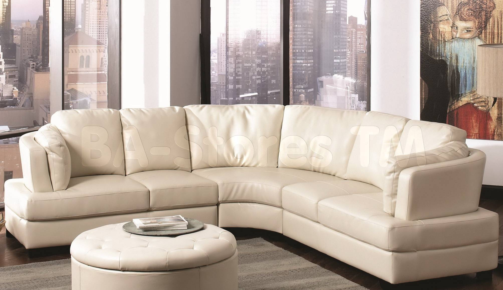Living Room: Amazing Winsome Curved Sectional For Beautiful Living intended for Round Sectional Sofa (Image 17 of 30)