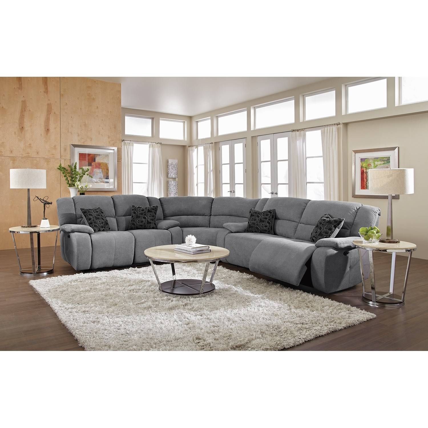 Living Room: Amazing Winsome Curved Sectional For Beautiful Living throughout Curved Sectional Sofa With Recliner (Image 20 of 30)