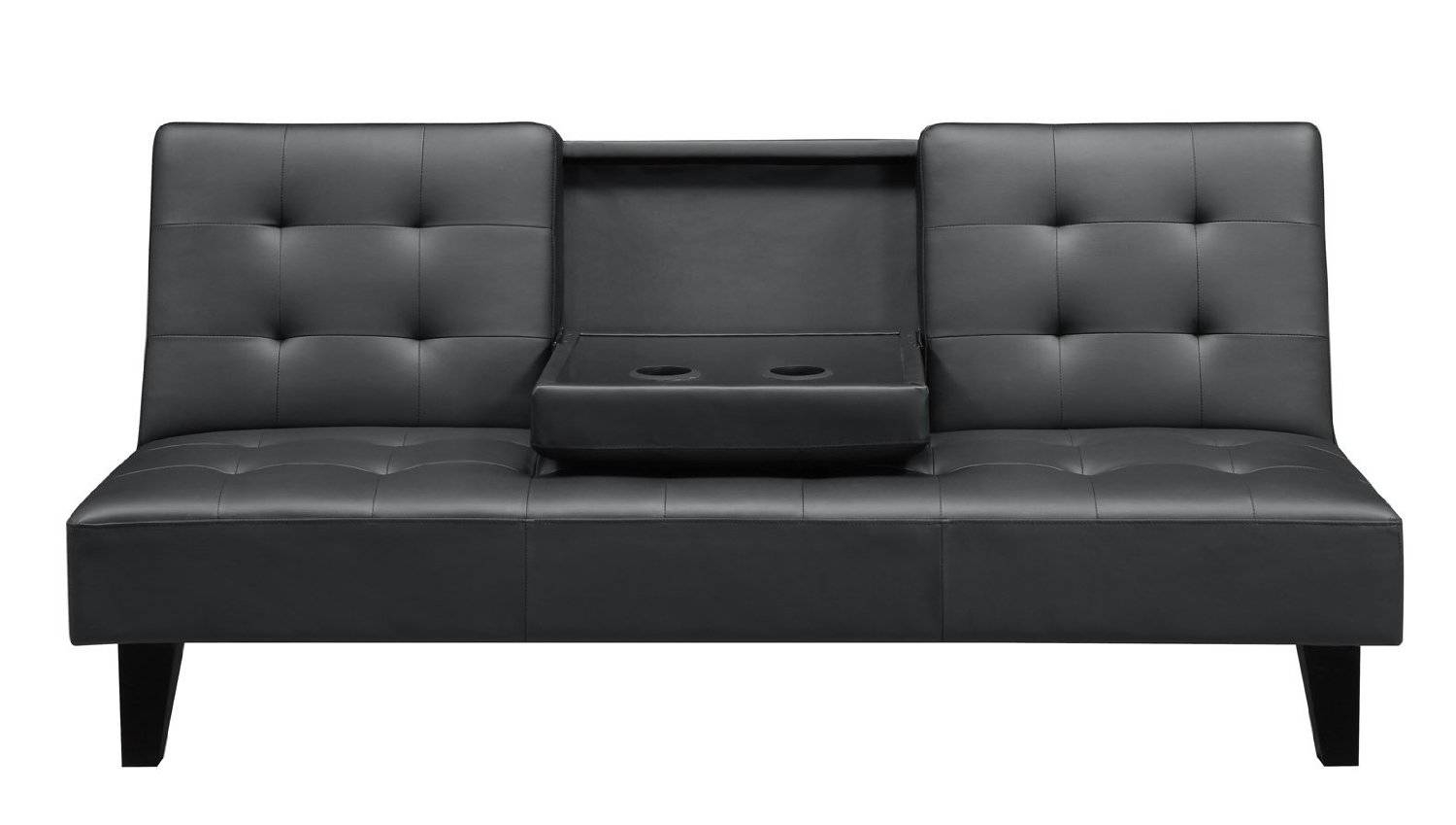 Living Room : Appealing Sharp Black Leather Sofa Bed Having Sturdy in Chintz Sofa Beds (Image 15 of 30)