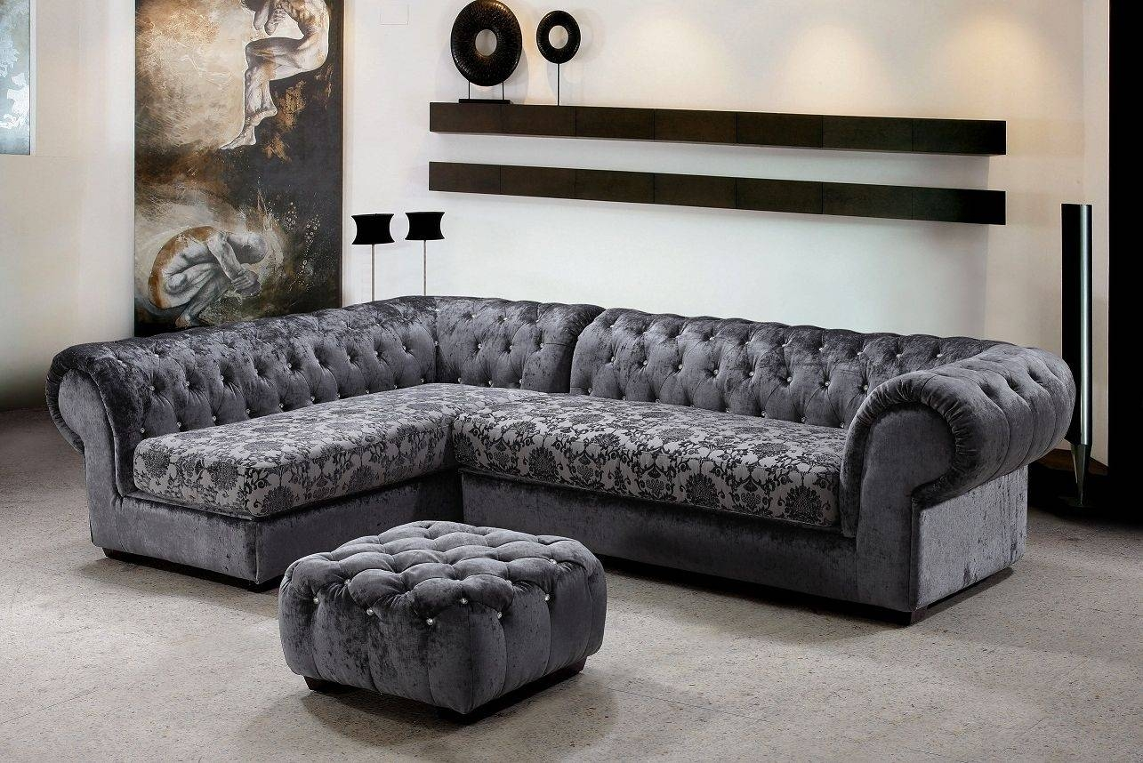 Living Room: Awesome Small Grey Living Room Design And Decoration throughout L Shaped Fabric Sofas (Image 15 of 30)