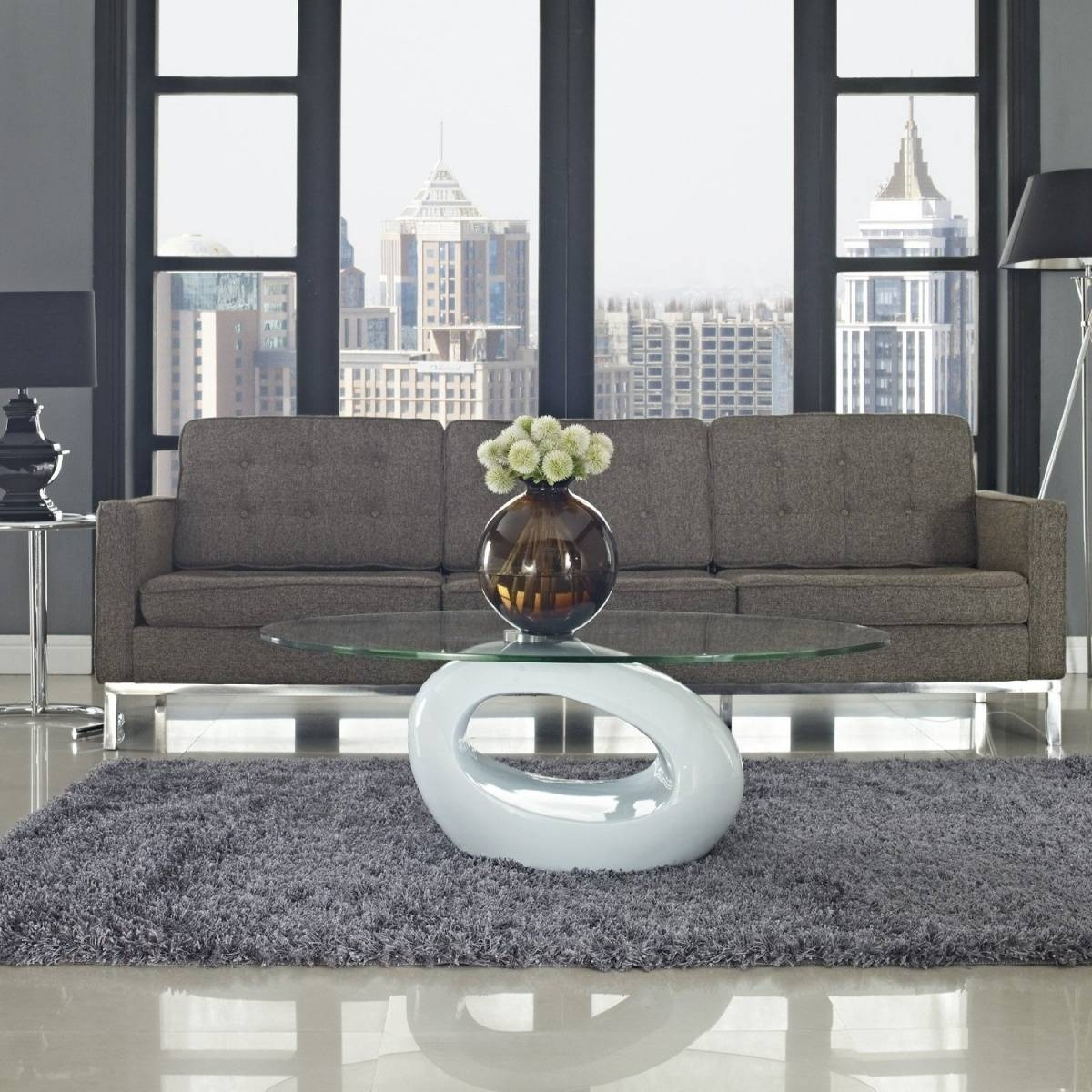 Living Room : Baffling Home Living Room Design Ideas With White within Oval Shaped Glass Coffee Tables (Image 19 of 30)