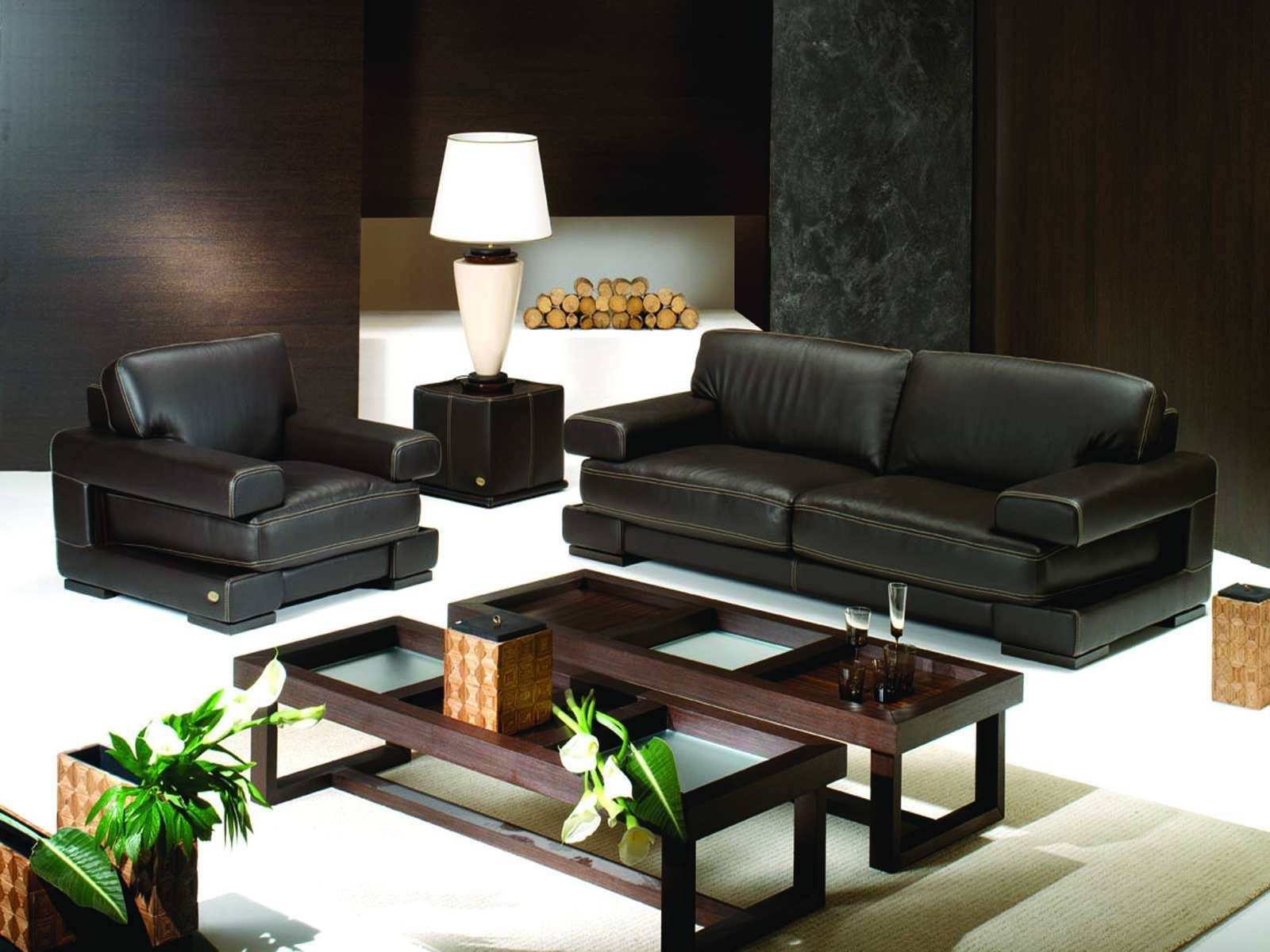 Living Room: Beautiful Modern Leather Sofa. Modern Italian Leather with White And Black Sofas (Image 22 of 30)