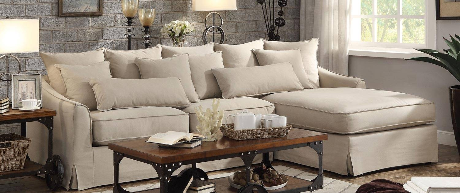 Living Room: Coaster Fine Furniture | Chenille And Leather in Chenille and Leather Sectional Sofa (Image 18 of 30)