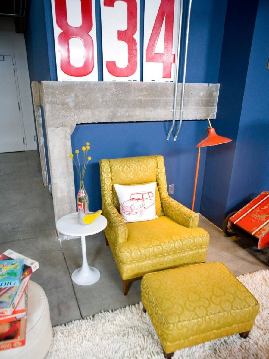 Living Room Comfy Living Room Chairs With Ottoman For Happy Family inside Yellow Sofa Chairs (Image 22 of 30)