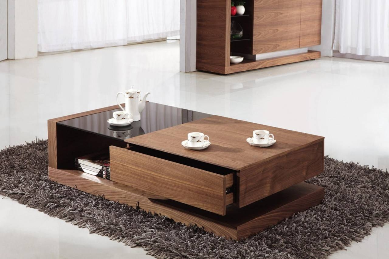 Living Room : Contemporary Glass Coffee Table Furniture Design for Wood Modern Coffee Tables (Image 21 of 30)